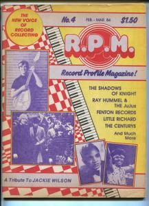 Record Profile Magazine #4 1984-Jackie Wilson-Little Richard-FN