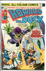 HOWARD THE DUCK #2 1976-BRITISH VARIANT-FRANK BRUNNER ART-RARE-vg
