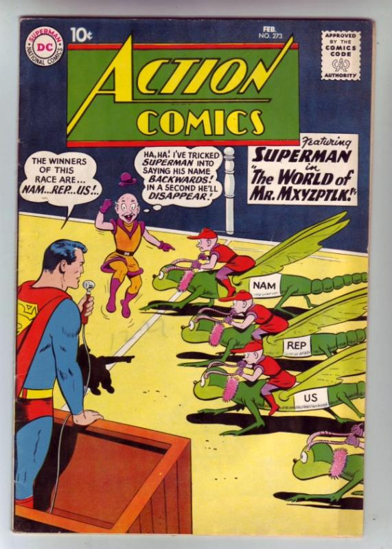 Action Comics #273 (Feb-60) FN/VF Mid-High-Grade Superman, Supergirl
