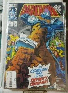 darkhawk # 31 1993 marvel chris powell    nova new warriors infinity crusade