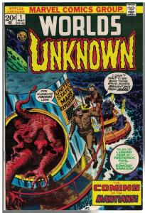 WORLDS UNKNOWN (1973) 1 F-VF May 1973