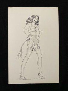Senorita Original Rio Pin Up by Bruce Dey -1978 -whip