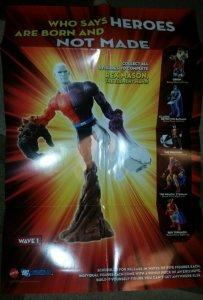 mattel DC UNIVERSE wave 1 figure folded retailer Promo Poster metamorpho BAF