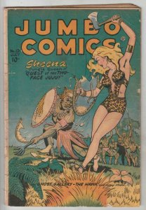 Jumbo Comics # 101 strict VG+ appearance Sheena Queen Of The Jungle!