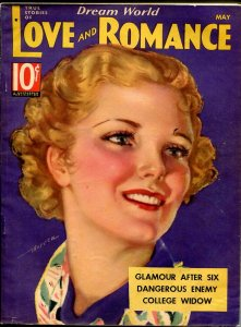 Dream World Love and Romance 5/1936-pin-up girl cover-Gloria Warren-spicy-FN