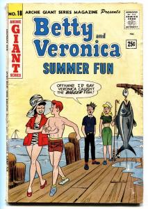 ARCHIE GIANT SERIES #18 comic book-1962-Fishing cover-Betty and Veronica