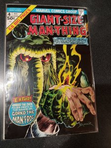 Giant-Size Man-Thing #4 Howard the Duck's first solo appearance