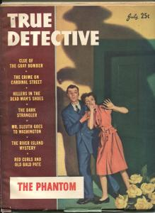 TRUE DETECTIVE JUL 1946-VG-THE PHANTOM-PULP-MAGAZINE VG
