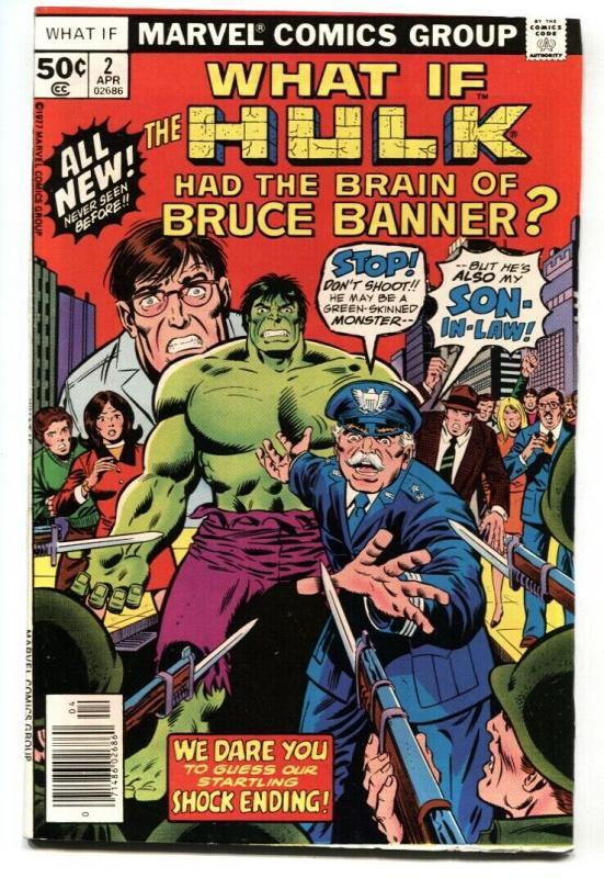 What If #2 comic book HULK HAD THE BRAIN OF BRUCE BANNER?