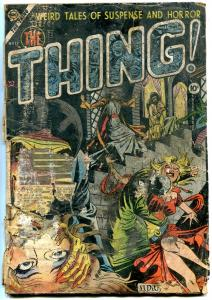 THING! #12 1954- 1st published DITKO cover- Cinderlla- Rare Golden Age POOR
