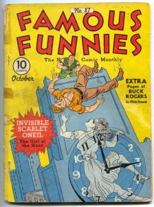 Famous Funnies #87 1941- Buck Rogers-incomplete copy