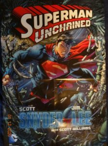 SUPERMAN UNCHAINED Promo Poster, 22 x 34, 2013, DC Unused more in our store 442