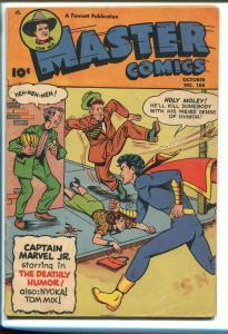 MASTER  #108 1949-FAWCETT-CAPT MARVEL JR-TOM MIX-NYOKA-vg/fn