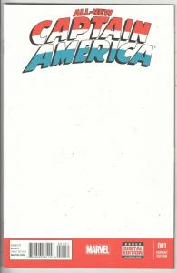 All-New Captain America Variant #1 (Jan-15) NM+ Super-High-Grade Captain Amer...