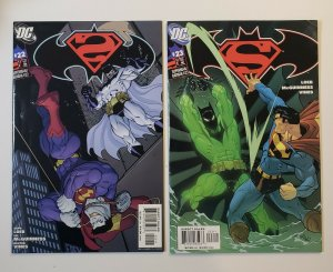 Superman/Batman #22 & 23 FN/VF 1st Batman Beyond in DCU DC Comics 2005