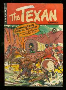 THE TEXAN #7 1950-ST JOHN COMICS-WILD MATT BAKER COVER VG