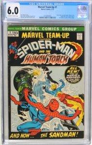 Marvel Team-Up #1 (1972) CGC Graded 6.0