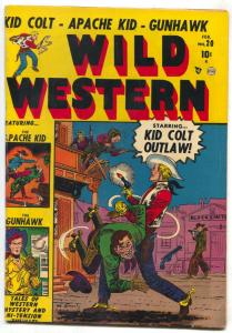 Wild Western #20 1953- Kid Colt begins-Maneely cover FN