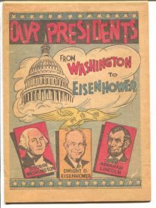 Our Presidents 1953-Washinton to Eisenhower-rare-info-VG