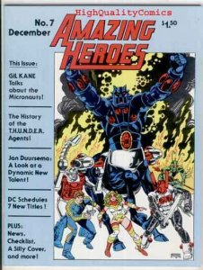 AMAZING HEROES #7, VF/NM, Gil Kane, Star Wars, 1981