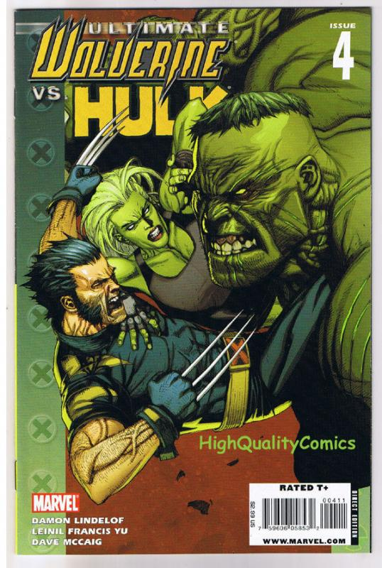 ULTIMATE WOLVERINE vs HULK #4, NM+, Claws vs Brawn, 2006, more in store