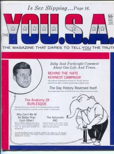 YOU.S.A. #1 8/1962 1st issue-The Magazine That Dares To Tell you The Truth-JF...