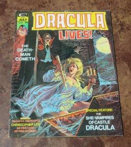 Dracula Lives #7 VG/FN 1974 Bronze Age Horror Magazine Death Man Cometh Vampires