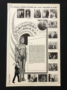 ClaytonCon 1 Convention Advertising Poster March 13 1977 RARE