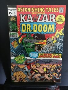 Astonishing Tales #3 (1970) Dr. Doom/Ka-Zar, Barry Smith Mid high grade FN/VF