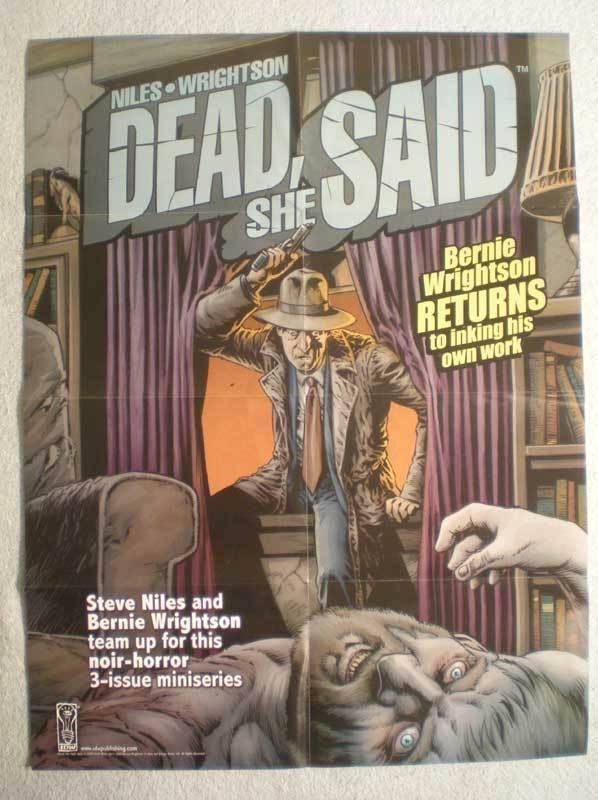 DEAD SHE SAID Promo Poster, Bernie Wrightson, 2008, Unused, more in our store