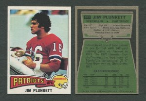 1975 Topps Football /  Jim Plunkett #321 /  NM-MT