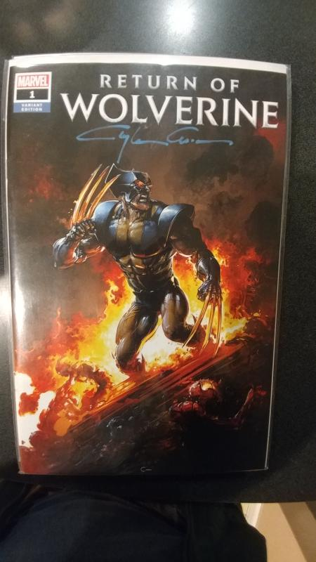 RETURN OF WOLVERINE #1 SCORPION COMICS VARIANT SIGNED BY CLAYTON CRAIN WITH COA