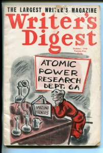 WRITER'S DIGEST 10/1945-AMAZING STORIES GAG COVER-PULP MAG INFO-good
