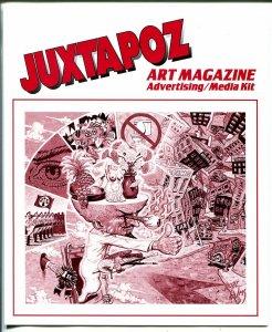 Juxtapoz Art Magazine Advertising Media Kit  1995-rare post card-very rare-VF