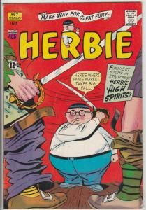 Herbie #7 (Jan-64) VF/NM High-Grade Herbie Popnecker