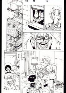 NINJA HIGH SCHOOL #75 PG 2-ORIGINAL ART-BEN DUNN-ANIME-COMIC BOOK-NHS