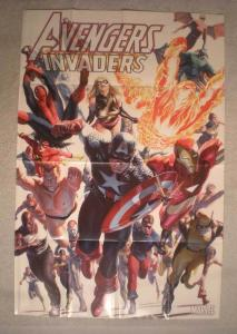 AVENGERS INVADERS Promo Poster, Alex Ross, 24x36, Unused, more in our store