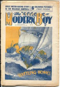 Modern Boy 12/30/1933-Sir Malcolm Campbell-U.K. published-VG