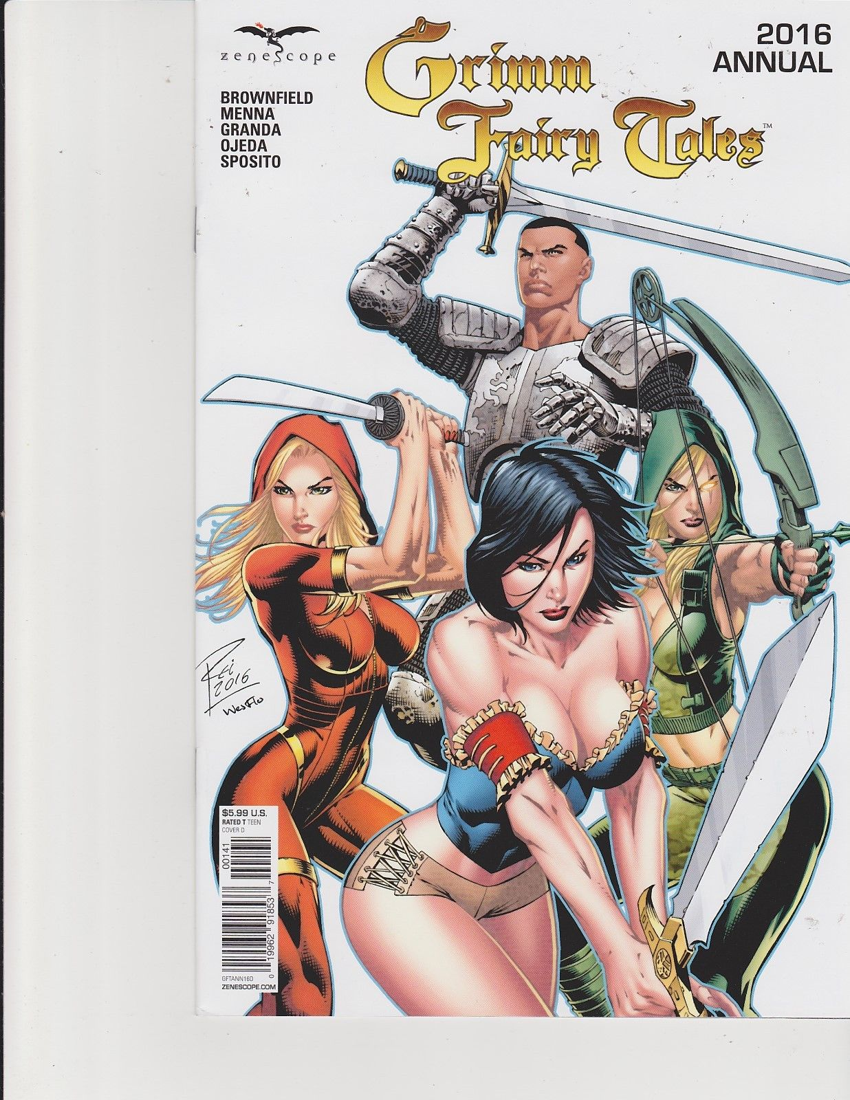 or better NM Grimm Fairy Tales Annual 2016 Cover C