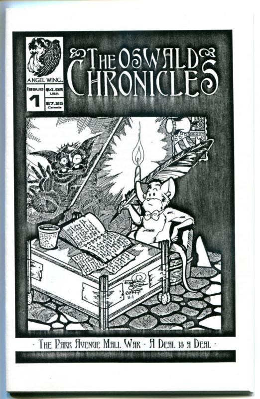 OSWALD CHRONICLES #1, NM, Ashcan size, 1997, Park Ave. Mall War, Jose Calderon