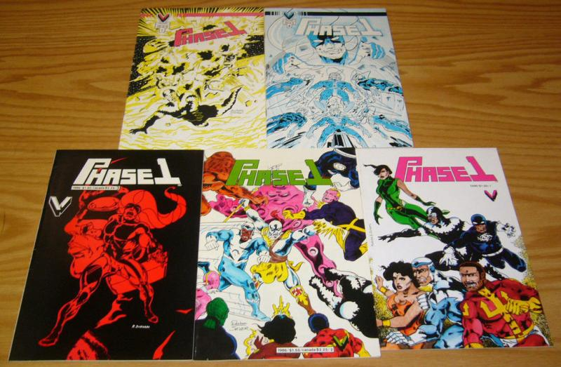 Phase 1 #1-5 VF/NM complete series 1986 VICTORY COMICS indy set 2 3 4 durham