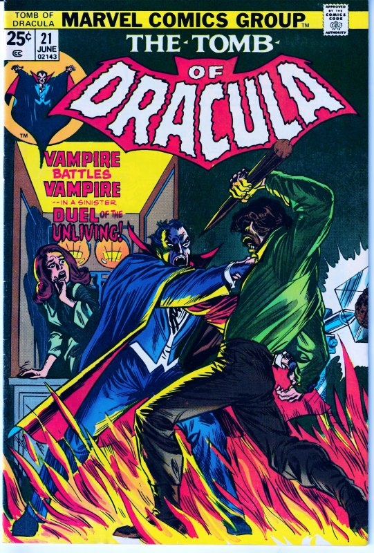 Tomb of Dracula(vol. 1) # 21 1st Appearance of Doctor Sun !