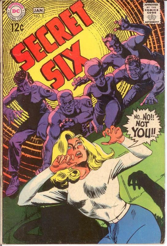 SECRET SIX 5 VG-F Jan. 1969 COMICS BOOK