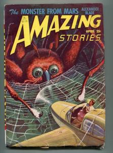 AMAZING STORIES PULP APRIL 1948-ALEXANDER BLADE -J. ALLEN ST. JOHN-VG
