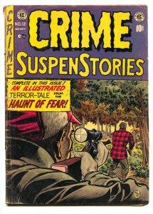 Crime SuspenStories #12 1952-EC Comics-horror-terror-hunting cover