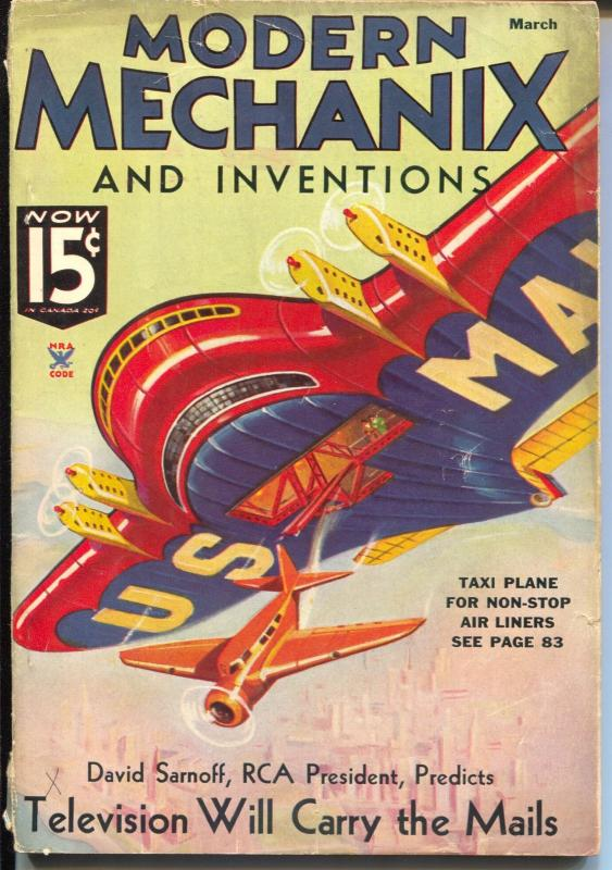 Modern Mechanix and Inventions 3/1935-Harley-Davidson ad-VG