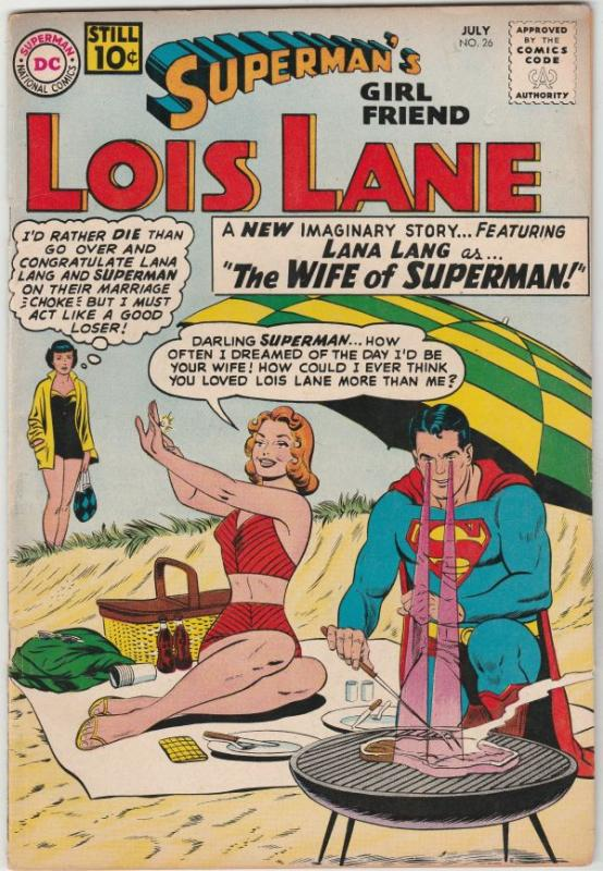 Superman's Girlfriend Lois Lane #26 (Jul-61) FN/VF- Mid-High-Grade Superman, ...