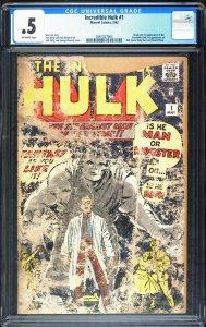 INCREDIBLE HULK #1-1962-CGC 0.5-First appearance-2061027003