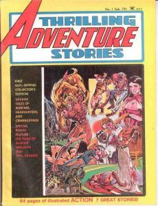 THRILLING ADVENTURE STORIES 1 Heath,Thorne 1975 VG
