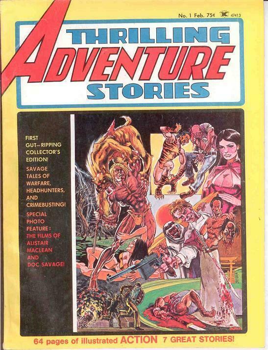 THRILLING ADVENTURE STORIES 1 Heath,Thorne 1975 VG